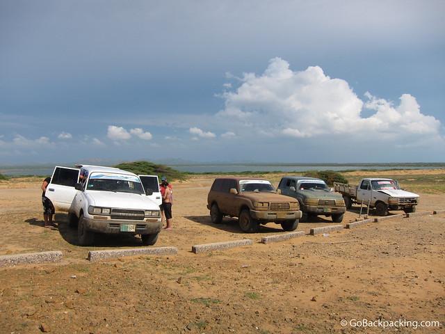 4x4's on La Guajira