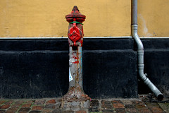 Wall. Hydrant. Drainpipe (Dave Gorman) Tags: wall hydrant copenhagen denmark cobbles drainpipe danmark kbenhavn
