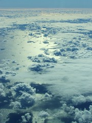 (capnmikesphotos) Tags: ocean travel sea sky cloud sun white reflection water clouds fly flying moving aviation trails move atlantic reflect transportation boeing traveling airlines heavy contrails pilot vapor 767 cirrus widebody cumulous 767300 deltaairlines 767300er capnmikesphotos blue