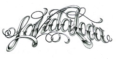 La Vida Loca. (Misha Mack TN) Tags: art tattoo ink design la sketch russia vida font type latino script loca              taknado piersib