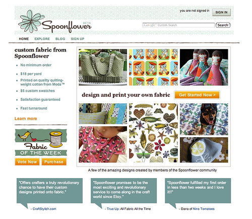 Spoonflower Website