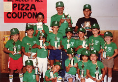 The A's at Barro's pizza, after winning our league