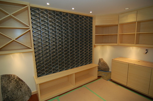 Bamboo wine cellar