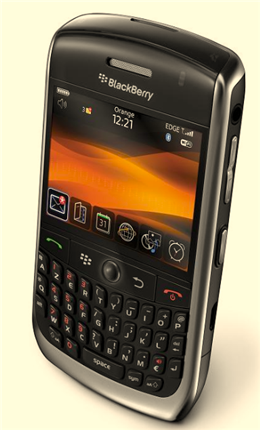 blackberry curve 8900 face