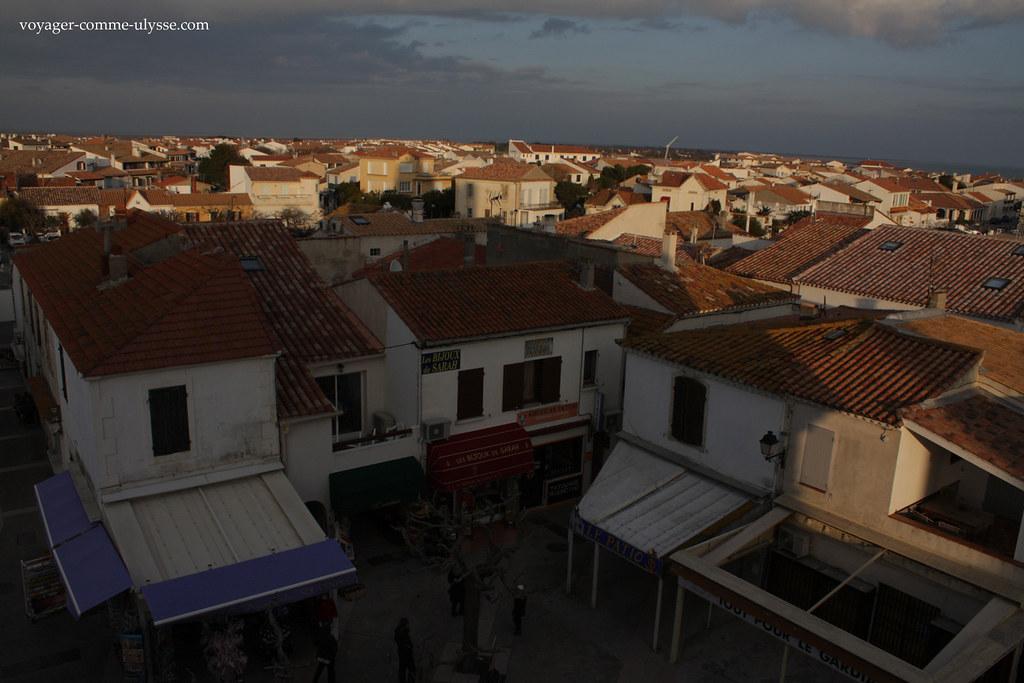 Visto do telhado da igreja : nenhuma torre moderna no horizonte!
