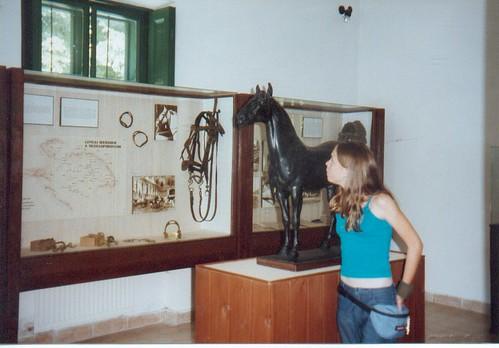Camille in het museum