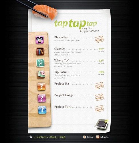 Tap Tap Tap web page