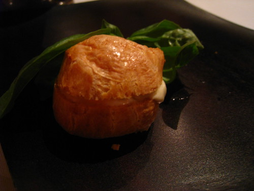 Mozaic's Amuse Bouche - Gougère with Truffle Cream