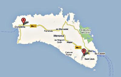 oficinas alquiler coches Eurorent Menorca