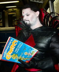 Mister Sinister studying (BelleChere) Tags: costume cosplay marvel nycc mistersinister newyorkcomiccon09