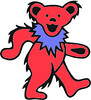 Grateful Dead Dancing Bear - red