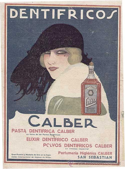 Baldrich, Calber toothpaste ad, 1921