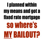 Mortgage bailout t-shirt