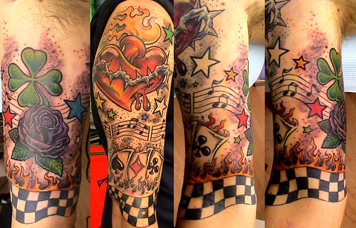 new school tattoo by Mirek vel