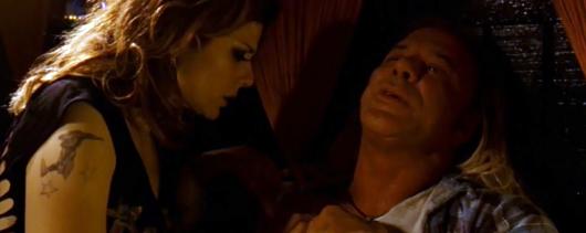 Marisa Tomei y Mickey Rourke en 'El luchador'