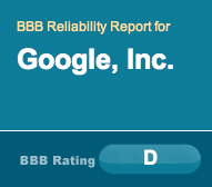 Google's Poor BBB Rating