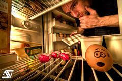 Where're my eggs ? (A.G. Photographe) Tags: france french fridge nikon egg sigma ag nikkor 1224mm franais hdr francais 1224 frigo auchan anto oeufs frigidaire beurre photographe babybel paques xiii hdr1raw d700 1224mmsigma refrigirateur antoxiii agphotographe