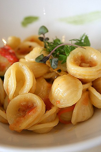 Pasta with daily vegetables
