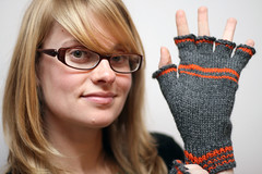 Is The Gauntlet Thrown? (Great Danes) Tags: knitting mitts fingerlessmitts knucks