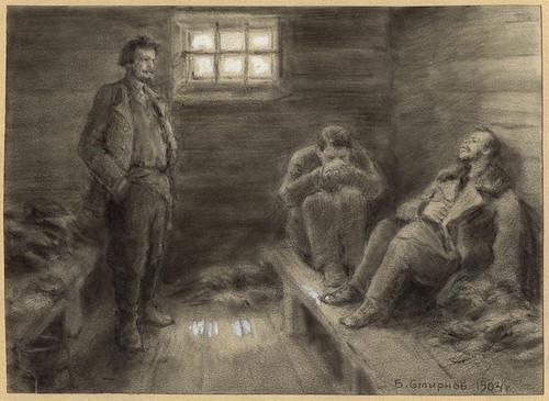 015- Deportacion a Siberia en un vagon de prisioneros- Boris Smirnov 1904