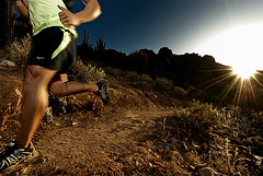 Afternoon Running in the Desert (Poppa-D) Tags: sunset mountains twilight rocks desert running run trail athlete fitness runner fitnessmodel