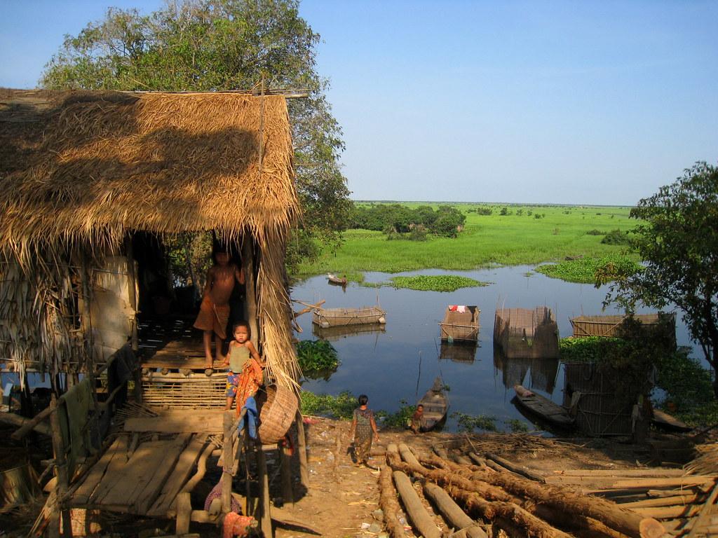 Village de pêcheurs cambodgiens