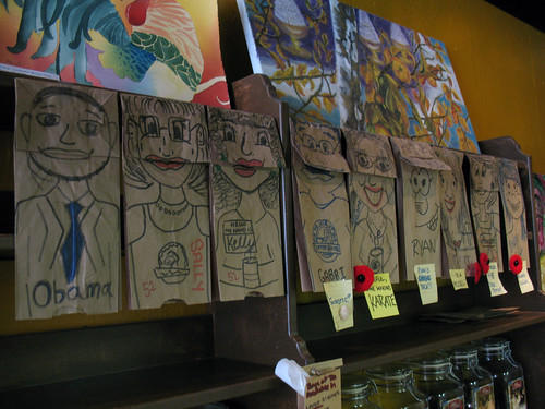 Paper Bag Puppets, All in a Row