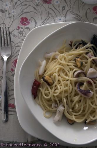 Spaghetti Akrux cozze e seppie