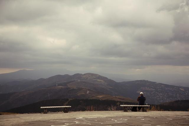 曇天の山頂