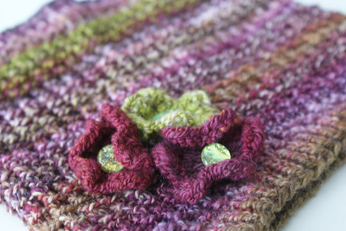 Floral Detail on Bamboo Cowl