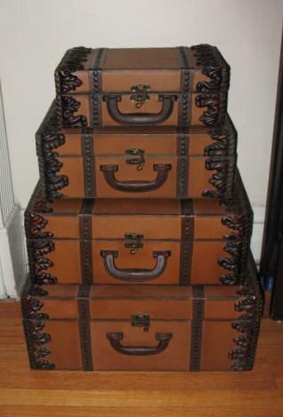 Four suitcases