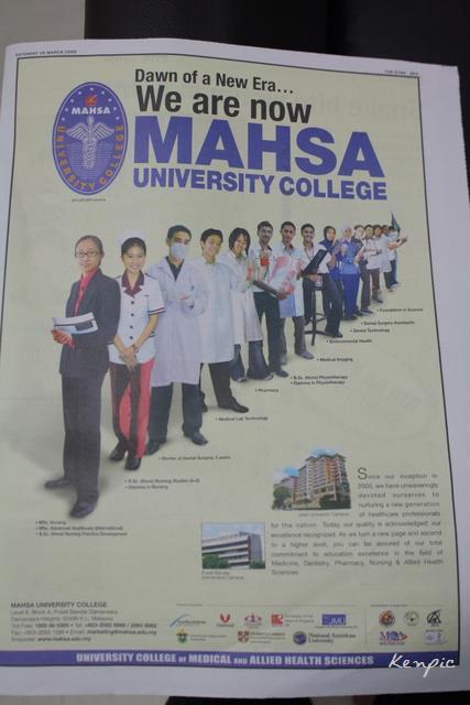 Mahsa advert
