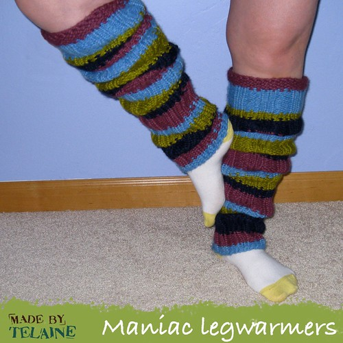 """She's a Maneiac!"" legwarmers"
