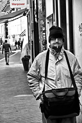 manpower (photonewbie69... back from vacation) Tags: street people bw holland netherlands maastricht unique sw manpower colorkey updatecollection