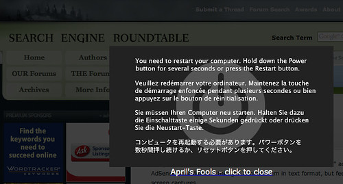 Search Engine Roundtable April Fools