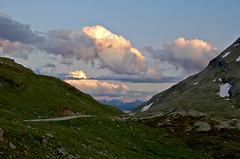 burning clouds (upsa-daisy) Tags: sunset summer alps clouds schweiz switzerland sonnenuntergang sommer wolken alpen bernina