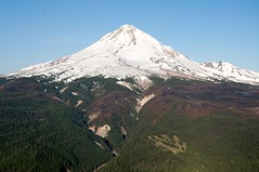 Cooper Spur & Mt Hood (Sam Beebe, Ecotrust) Tags: oregon skiing unitedstates aerial resort skiresort mthood cooperspur