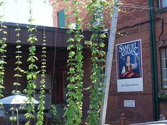 Outside the Samuel Adams brewery.