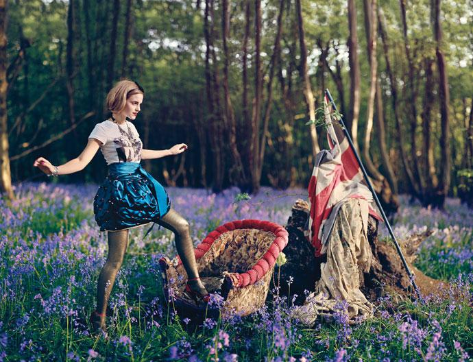 Extraña foto de Emma Watson