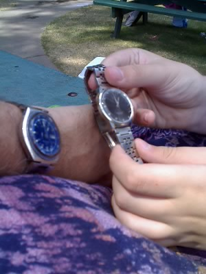 Three generations of wristwatches...