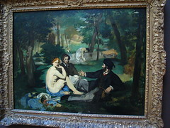 Le Bain (BangsUndeveloped) Tags: california art painting french losangeles canvas gettymuseum canong3 ledjeunersurlherbe douardmanet thelunchonthegrass