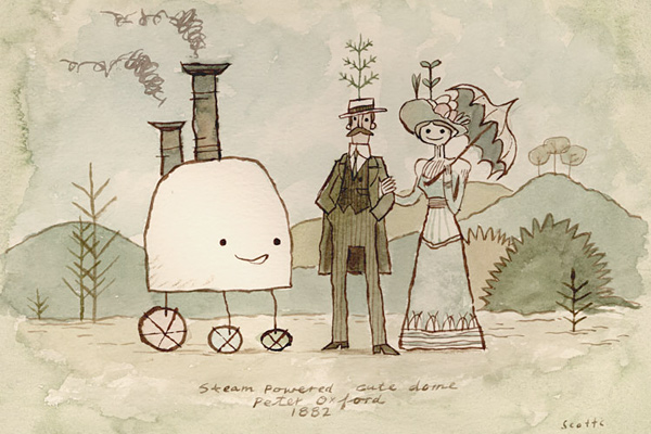 Steam Powered Cute Dome by Scott Campbell
