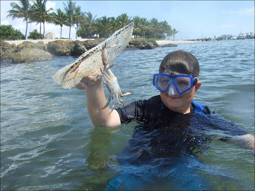 Daniel with a Big Crab!