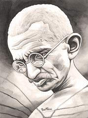 Mahatma Gandhi - 1 - (Ben Heine) Tags: greatbritain portrait india art sepia writing print southafrica one freedom glasses community peace symbol unitedkingdom faith protest fast icon prison libert jail vegetarian foi shawl independence copyrights simple intellectual disobedience lunettes legacy economy lawyer womensrights civilrights struggle resistance modest antiracism global assassination encre paix independanceday tyranny selfreliance nonviolence colonization influence swaraj purification bapu mahatmagandhi ahimsa idealism satyagraha iday kheda spiritualleader antidiscrimination charkha saltsatyagraha mohandaskaramchandgandhi assassinat