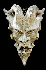 Worst Nightmare (Les Smith) Tags: mask evil gargoyle devil salvage salvageyard