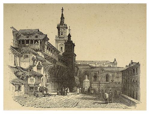 005-Vista de la plaza mayor de Vitoria 1846-Copyright 2009 álbum SIGLO XIX. Diputación Foral de Gipuzkoa