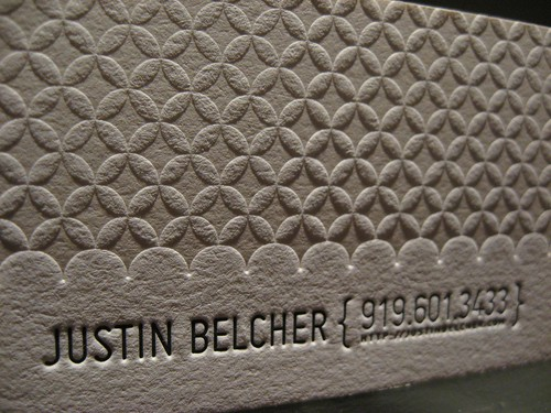 Justin Belcher Business Card (Close Up)