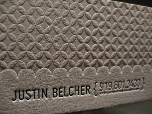 Justin Belcher Business Card (Close Up)