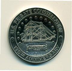 U.S.Frigate Constitution medal obv