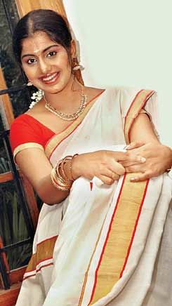 Meera Nandan in saree and blouse